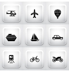 Set of square application buttons navigation vector