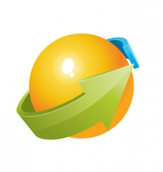 3d ball with arrows design vector image