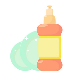Dischwashing liquid icon cartoon style vector