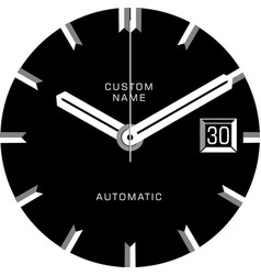 smart watch face c vector image