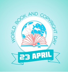 23 April World Book and Copyright Day vector image vector image