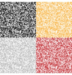 Set of abstract pixel backgrounds vector