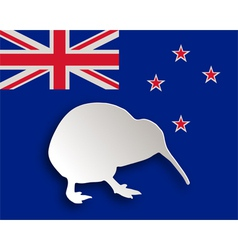 Kiwi on flag vector