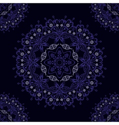 Abstract mandala seamless pattern vector image