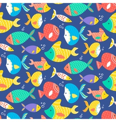 Seamless pattern of different kind sea multicolore vector