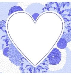 Frame in the form of heart vector image