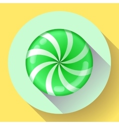 Sweet lollipop candie icon flat design style vector