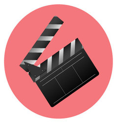 Icon slapstick cinema item vector