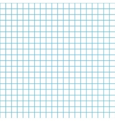 Five millimeters grid cyan colour on white vector