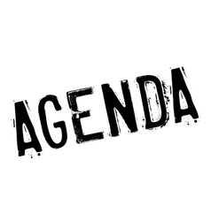 Agenda rubber stamp vector image