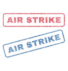 Air strike textile stamps vector