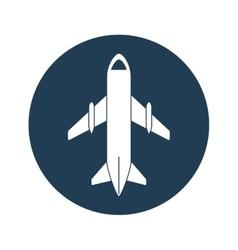 Airplane emblem icon image vector