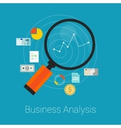 analysis business finance vector image vector image