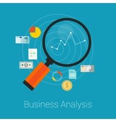 Analysis business finance vector