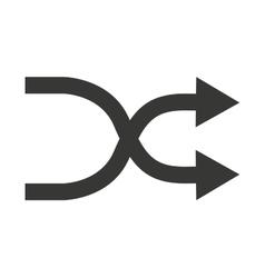 arrows cross isolated icon design vector image