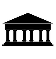 Bank building the black color icon vector