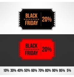 black friday sale ticket Retail discount vector image vector image