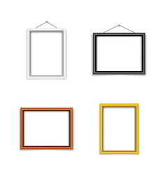blank photo frame template set vector image