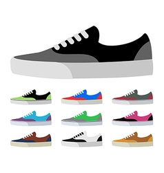 Canvas shoes vector