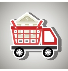 car shop buy online vector image