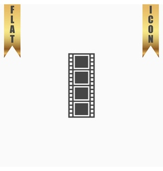 Cinematographic film flat icon vector