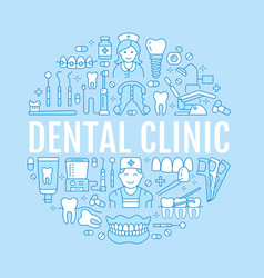 Dentist orthodontics medical banner with vector