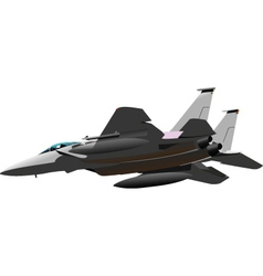 fighter jet vector image vector image