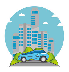futuristic and modern car design vector image