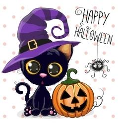 Halloween cat vector