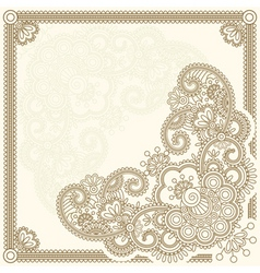 Handdrawn henna mehndi abstract flowers vector ill vector