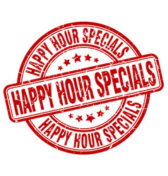 Happy hour specials vector