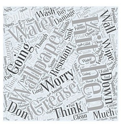Kitchen wallpaper word cloud concept vector