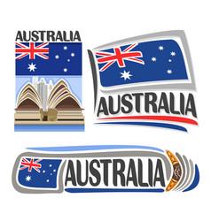 Logo australia vector