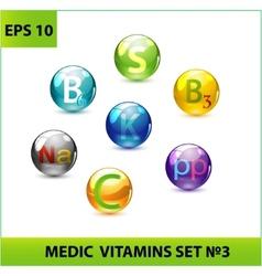 medic pills set vector image vector image