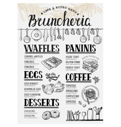 Menu restaurant food template vector image