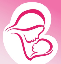 mother and baby symbol vector image