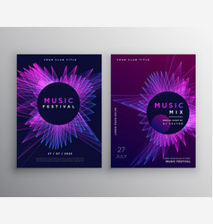 music party flyer poster invitation template vector image