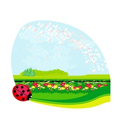 Nature springsummer background - place for text vector image vector image