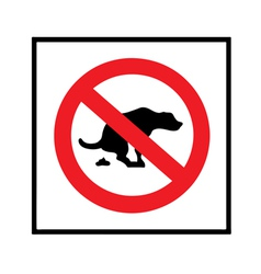 no dog shit icon vector image vector image