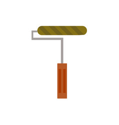 paint roller icon isolated on vector image