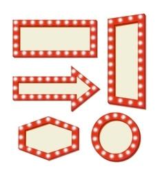 Retro red frame vintage signs vector