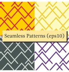 Seamless abstract horizontal lines patterns vector image vector image
