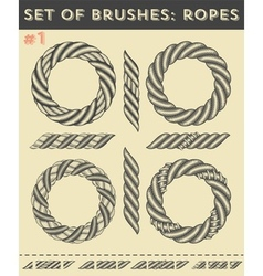 Set of brushes 1Ropes vector image