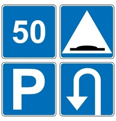 Set of traffic road sign vector image vector image