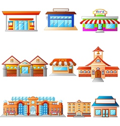 set several buildings vector image