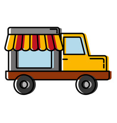 Store truck icon vector