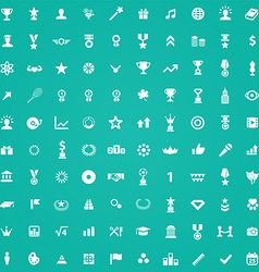 100 award icons vector image vector image