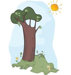 Wood landscape vector image
