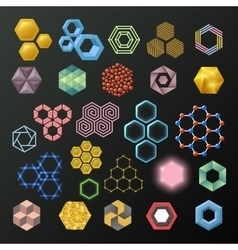 Different honeycombs set vector