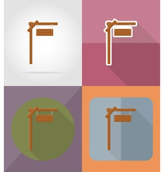 wooden board flat icons 02 vector image